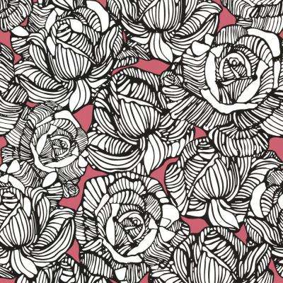 Calista Orange Modern Rose Wallpaper