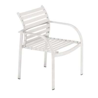 Scandia White Commercial Strap Patio Dining Chair (2-Pack)