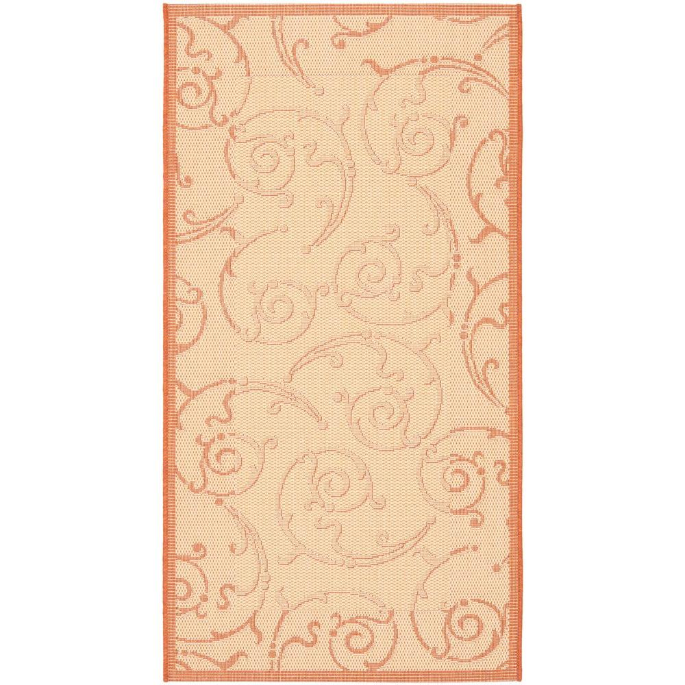 Safavieh Courtyard Natural/Terracotta 2 ft. 7 in. x 5 ft. Indoor/Outdoor Area Rug