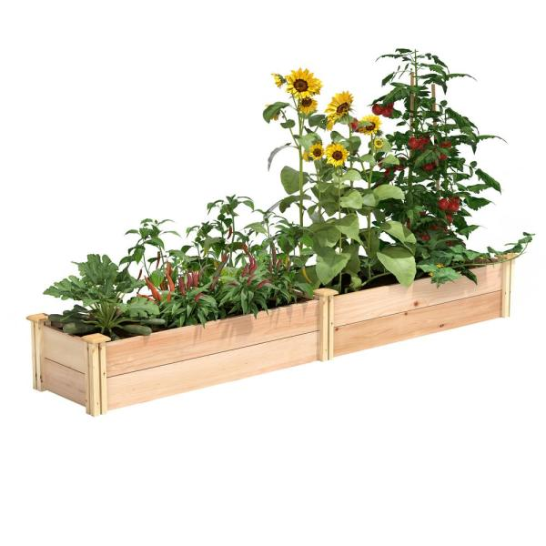 16 in. x 8 ft. x 11 in. Premium Cedar Raised Garden Bed