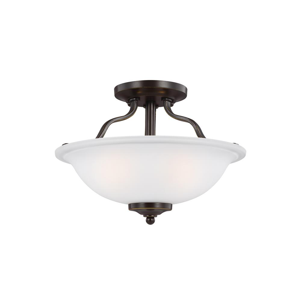 Emmons 2-Light Heirloom Bronze Chandelier