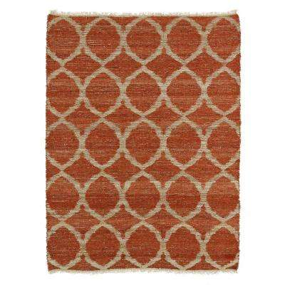 Kenwood Rust 8 ft. x 11 ft. Double Sided Area Rug