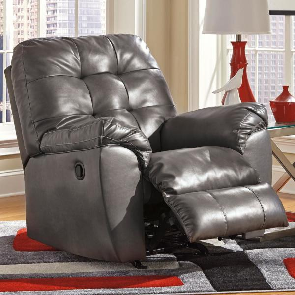 Flash Furniture Alliston Gray Leather Faux Leather Rocker Recliner Fsd2399recgry The Home Depot
