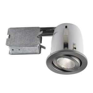 BAZZ 500 Series 4 inch Brushed Chrome Recessed Halogen Light Fixture Kit by BAZZ