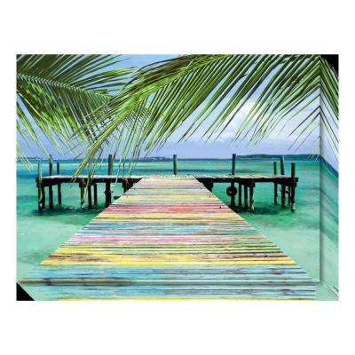 """Rainbow Dock"" by Steve Vaughn Canvas Wall Art"