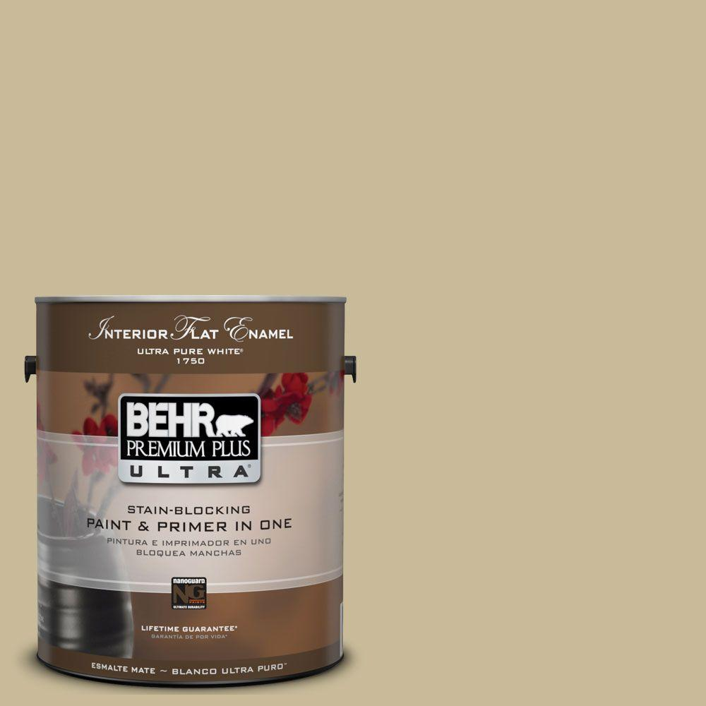 BEHR Premium Plus Ultra 1-gal. #UL180-8 Tea Bag Interior Flat Enamel Paint