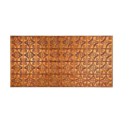 Traditional 1 - 2 ft. x 4 ft. Glue-up Ceiling Tile in Muted Gold