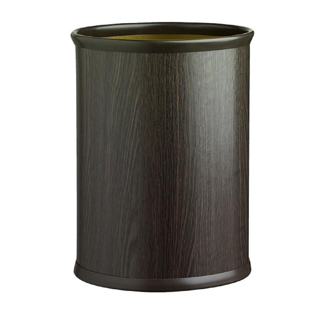 Woodcraft Ebony 13 qt. Oval Waste Basket