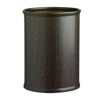 Woodcraft Ebony 13 qt. Oval Waste Basket