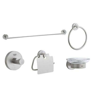 Essentials Accessory Set In Infinity Brushed Nickel