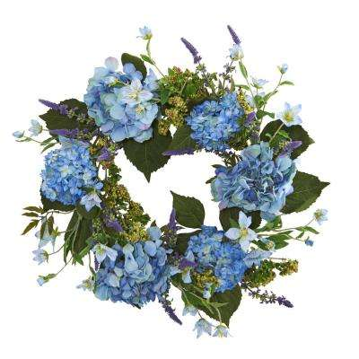 24 in. Hydrangea Wreath