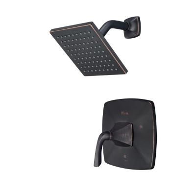 Bronson 1-Handle Shower Faucet Trim Kit in Tuscan Bronze (Valve Not Included)