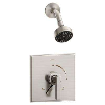Duro 1-Handle Wall Mounted Shower Trim Kit in Satin Nickel (Valve Not Included)