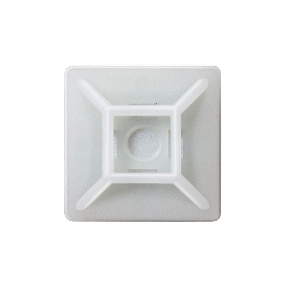 Commercial Electric 1 in. Mounting Base, Natural (100-Pack)