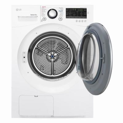 4.2 cu. ft. White Compact Stackable Front Load Electric Ventless Dryer with Sensor Dry