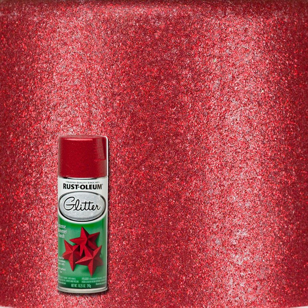 Red Glitter Spray Paint
