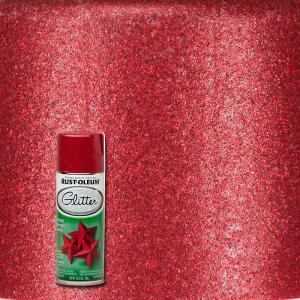 Rust Oleum Specialty 10 25 Oz Red Glitter Spray Paint