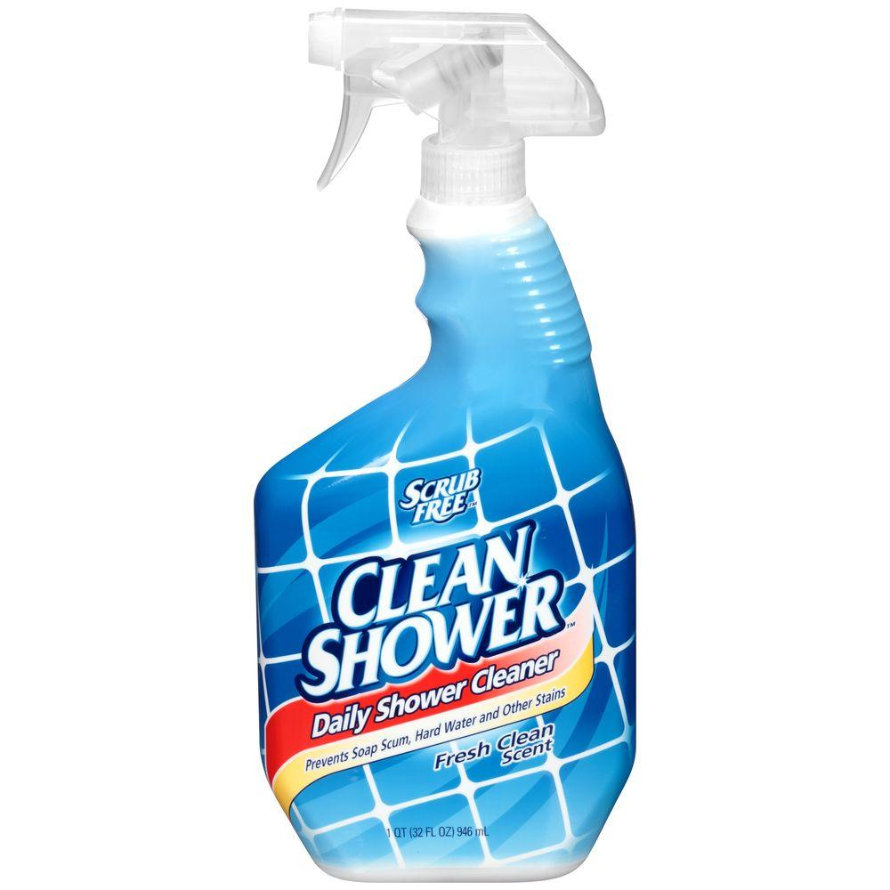 Scrub free 32 oz clean shower original daily shower for Best products to clean bathroom