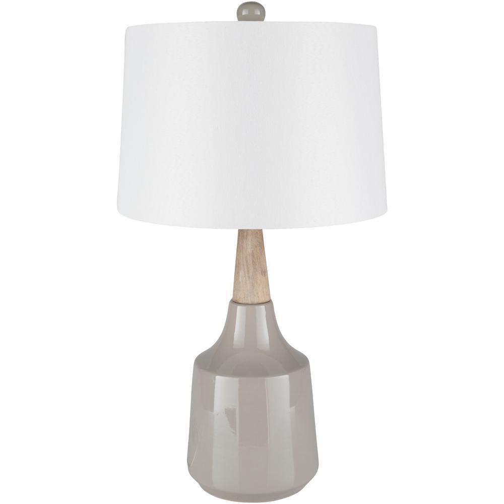 Xavier 27.5 in. Medium Gray Indoor Table Lamp