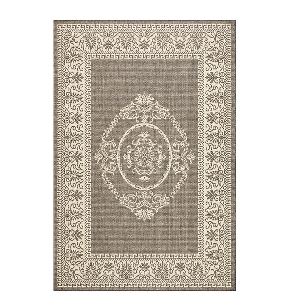 Delightful Home Decorators Collection Antique Medallion Grey/Champagne 2 Ft. X 4 Ft.  Indoor