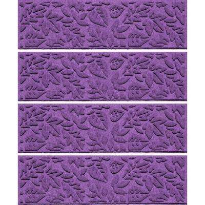 Purple 8.5 in. x 30 in. Fall Day Stair Tread Cover (Set of 4)