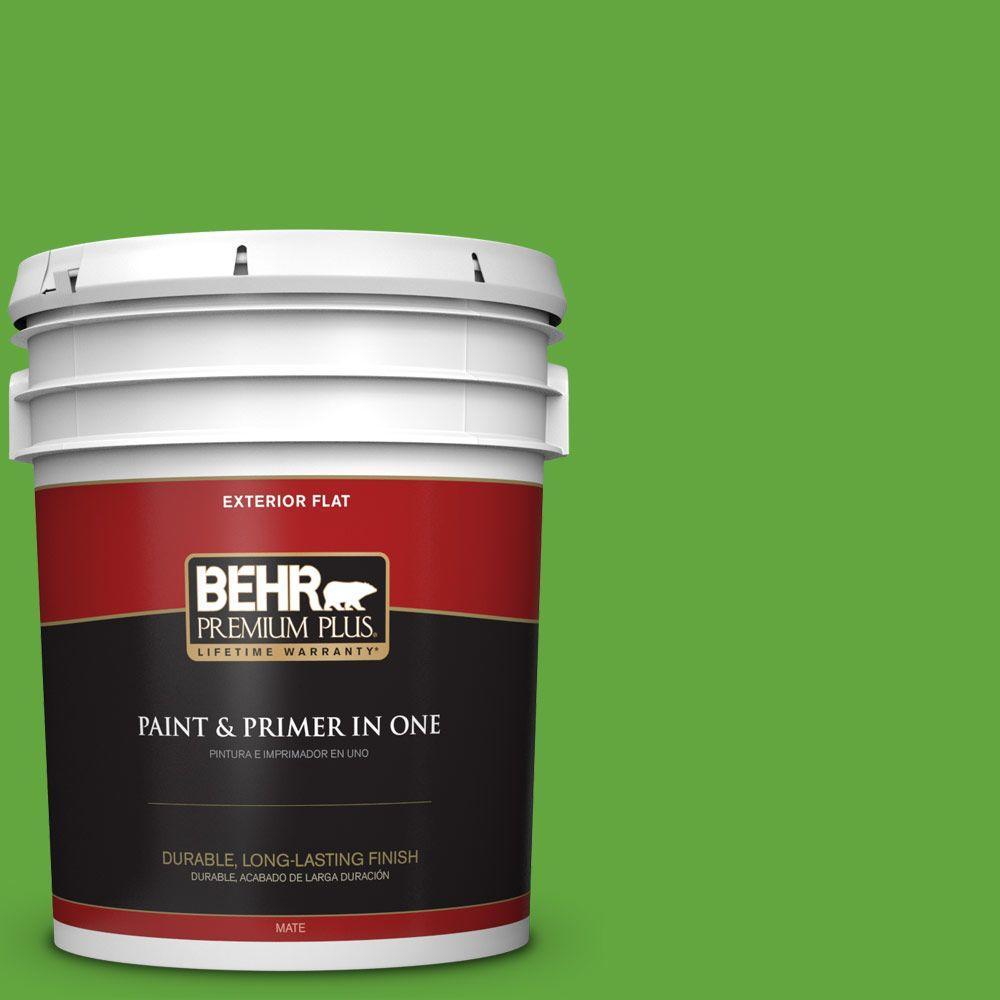BEHR Premium Plus 5-gal. #430B-6 Caterpillar Flat Exterior Paint