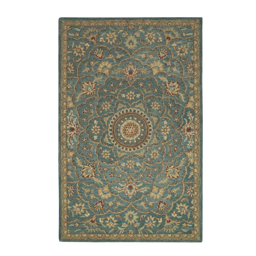 Home decorators collection rotunda peacock 5 ft 3 in x 8 for Home decorators rugs