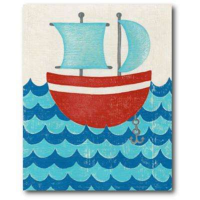 "16 in. x 20 in. ""Under the sea I"" Gallery Wrapped Canvas Printed Wall Art"
