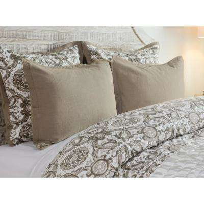 Resort Desert Cotton 20 in. x 26 in. Standard Sham