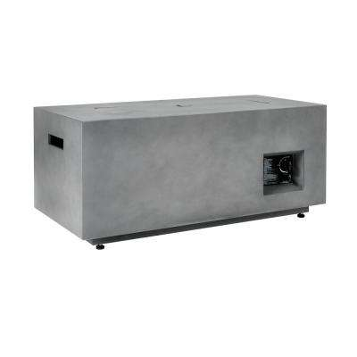 48 in. x 20 in. Rectangular Aluminum Gas Fire Pit with Decorative Concrete