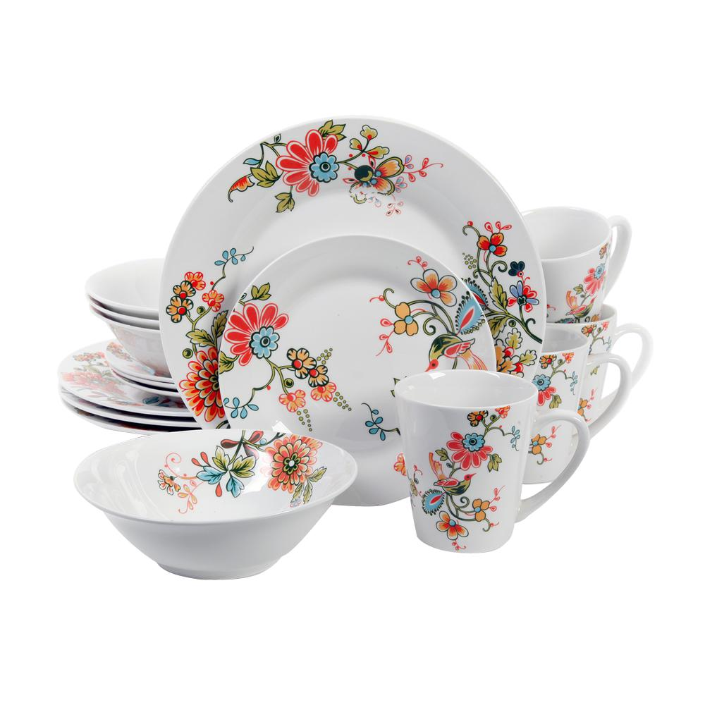 Gibson Home Doraville 16-Piece Dinnerware Set  sc 1 st  The Home Depot : gibson tableware - pezcame.com
