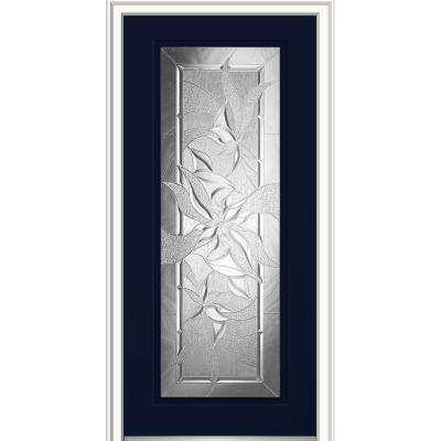 32 in. x 80 in. Impressions Right-Hand Inswing Full Lite Decorative Glass Painted Steel Prehung Front Door