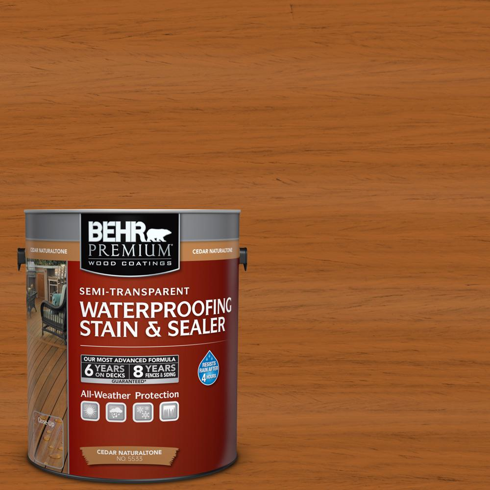 Semi transparent waterproofing wood stain sealer behr for Deck paint colors home depot
