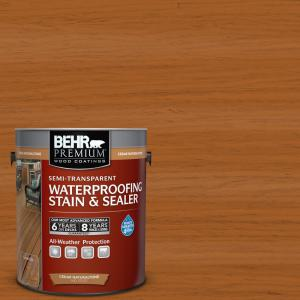 1 gal. #ST-533 Cedar Naturaltone Semi-Transparent Waterproofing Exterior Wood Stain and Sealer