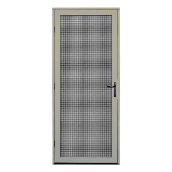 32 in. x 80 in. Almond Surface Mount Ultimate Security Screen Door with Meshtec Screen