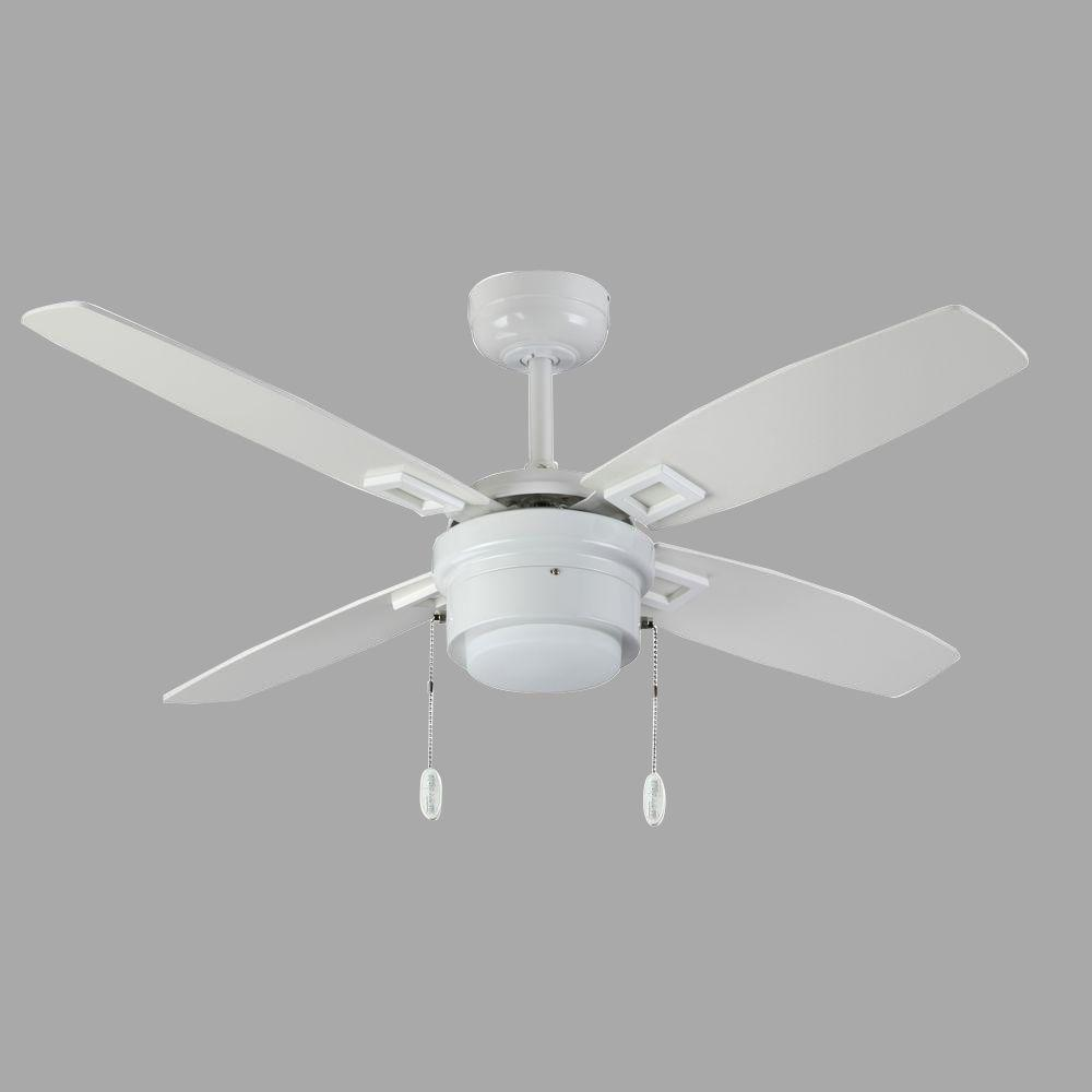 white ceiling fans troposair sprite 42 in white ceiling fan with light 11554