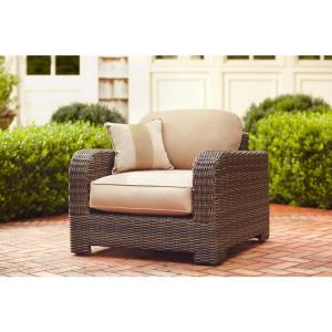 Northshore Patio Lounge Chair with Harvest Cushions and Regency Wren Throw Pillow -- STOCK