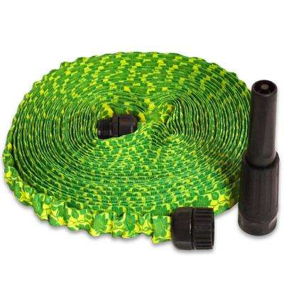 2 in. Dia. x 50 ft. HydroHose Designer Series with Adjustable Nozzle in Green Daisy