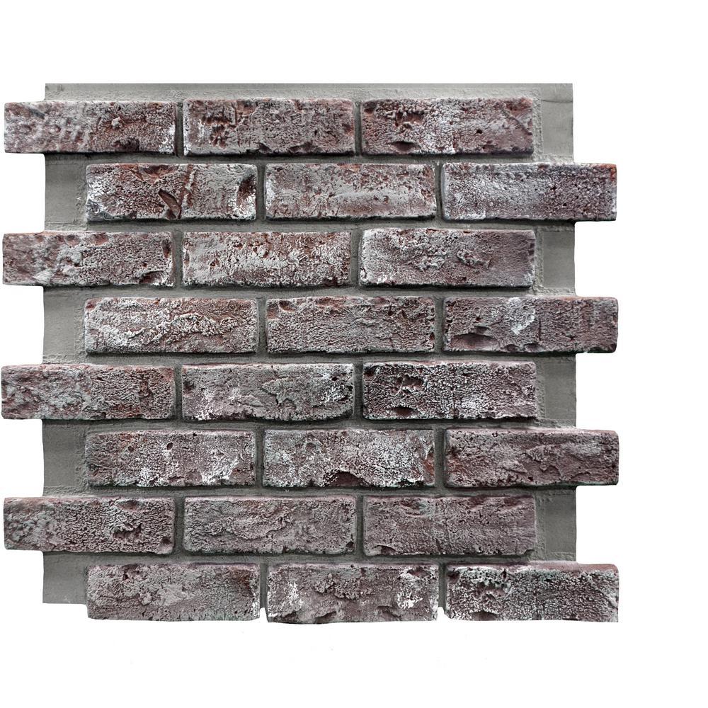 Chicago Brick 22.5 in. x 22.5 in. Brick Veneer Siding Full Panel