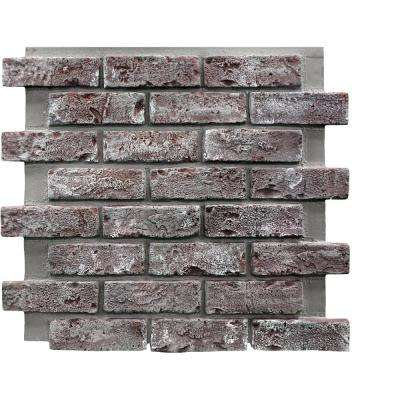 Chicago Brick 22.5 in. x 22.5 in. Brick Veneer Siding Full Panel