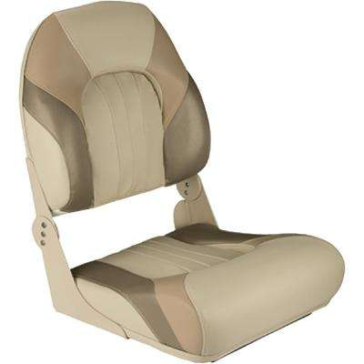 High Back Fold Down Fishing Seat, Tan