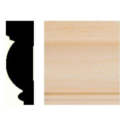 7/8 in. x 2-5/8 in. x 8 ft. Basswood Casing/Chair Rail Moulding