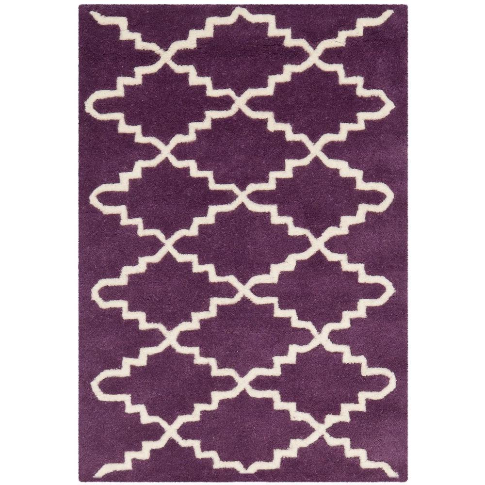 Chatham Purple/Ivory 3 ft. x 5 ft. Area Rug
