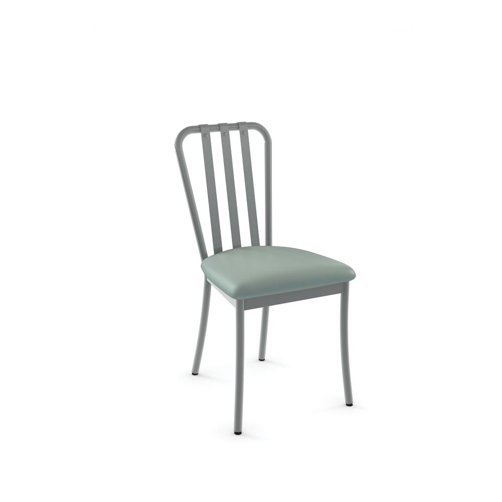Club Grey Metal And Light Aqua Blue Dining Chair Set Of 2