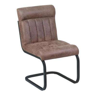 Vancouver 36 in. Bandero Tobacco Fabric and Mineral Finish Side Chair (Set of 2)