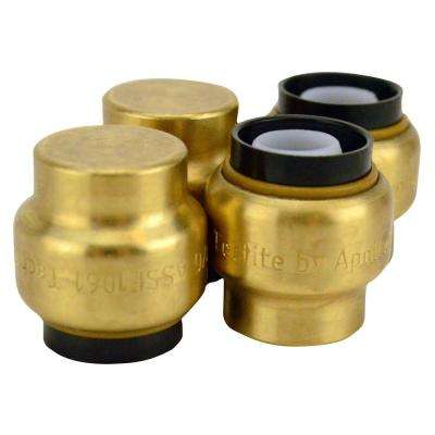 1/2 in. Brass Push-to-Connect Cap (4-Pack)
