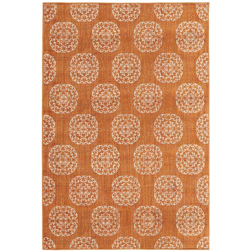 Home Decorators Collection Essex Medallion Rust 10 ft. x 12 ft. Area Rug