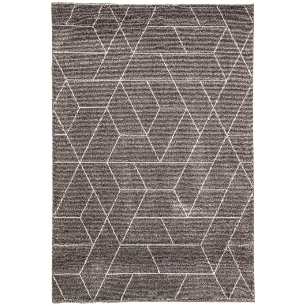 Jaipur rugs charcoal gray 5 ft 6 in x 7 ft 6 in for Geometric print area rugs