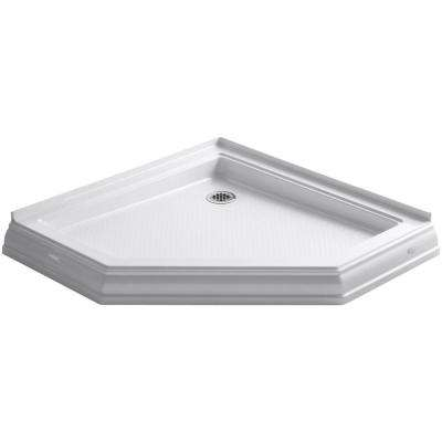 Memoirs 42 in. x 42 in. Shower Base in White