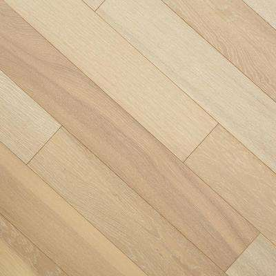 Wire Brushed Windcrest Oak 3/8 in. T x 5 in. W x Varying Length Click Lock Eng Hardwood Flooring (19.686 sq. ft. / case)
